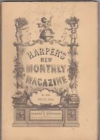 JULY 1884 HARPERS NEW MONTHLY MAGAZINE - great ads/prints