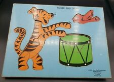 Tigger And Drum Inlay Puzzle 10 Piece Walt Disney Productions  (2-5 Yrs)