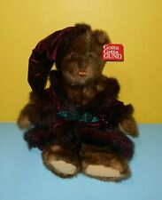 "Gund 16"" Sugarplum Teddy Bear Velvet Cap & Robe Old Fashioned Christmas #8739"