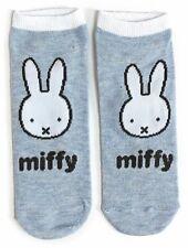 Ladies Miffy Rabbit Classic Blue Shoe Liners Socks 4-8 UK / 37-42 Eur/ 6-10 US