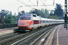 PHOTO  FRANCE TGV UNIDENT LOCATION NEAR PARIS 1990