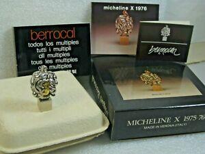 Miguel Berrocal - Micheline X 1975-76 Nickel & Brass Puzzle Sculpture Pendant