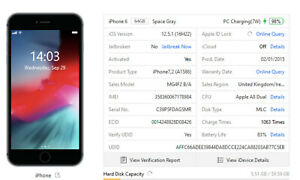 Apple iPhone 6 - 64GB -  (Unlocked) Grey