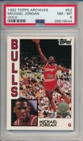 1992-93 Topps Archives Michael Jordan Gold Card #52 PSA 8 Chicago Bulls #6544