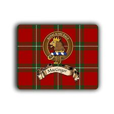 MacGregor Scottish Clan Tartan Crest Computer Mouse Pad