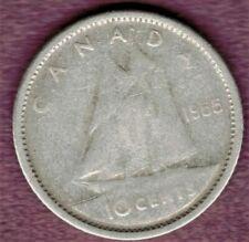 1955  Canada  80 % Silver 10 Cent