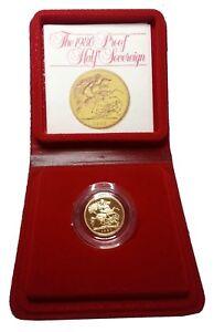 1980 Queen Elizabeth II Proof Gold Half Sovereign + Capsulated / Case
