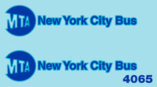 4065 O scale NYC bus decal
