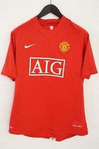 Men Nike Official Manchester United AIG 2007/08 The Red Devils L XMD260