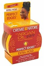 Creme of Nature Argan Oil Perfect Edges Control Hair Gel 2.25oz-Extra Hold