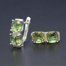 Turkish sultanit 925 sterling silver color change diaspore stud earrings women's