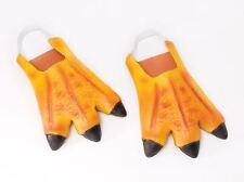 Adulte Orange chicken duck feet Pantoufles Animaux Caoutchouc accessoire robe fantaisie NEUF