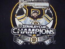 NHL Boston Bruins 2011 Stanley Cup Champions Black T shirt M