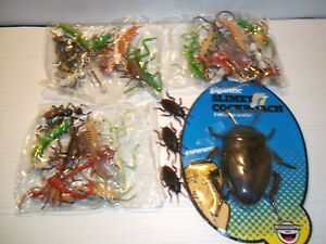 Lot of 40 Assorted Rubber Plastic Toy Bugs Insects