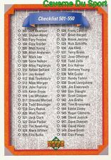 600 CHECKLIST 501-600 CL  BASEBALL CARD UPPER DECK 1992