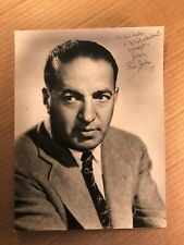 Gus Kahn Extremely Rare Early Original Autographed Oversize Photo '27 Songwriter