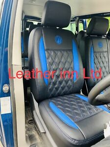 Vw Transporter T5 T6 Seat Covers 2 Captain Seats With 4 Armrest With Vw logo