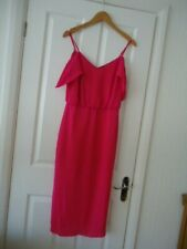 OASIS PINK LINED STRAPPY OPEN SHOULDER DRESS SIZE 12 BNWT