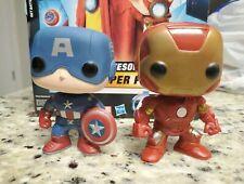 Funko POP Avengers Movie - #10 captain America & #11 iron man figure lot