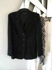 FLETCHER JONES Black Wool Lined Corporate Jacket Coat 8 PC