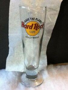 Hard Rock Cafe Save the Planet Hollywood Pilsner Beer Glass