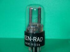 Vintage Ken Rad 6SN7 GT Vacuum Tube  1950 Very Strong & Balanced 2520|2400