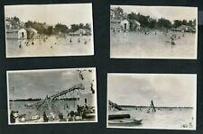 Vintage 1920s Photos Giant Water Slide at Lake Resort Boys & Girls Swim 994011