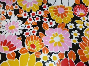1/2 Roll Vtg 70s Flower Power Self Adhesive Vinyl Shelf Liner Contact Paper WOW!