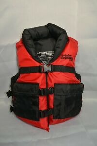 Cabela's Youth 50-90 Lbs Red Coast Guard Approved Life Jacket Type III PFD