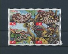 LM14228 Ukraine 2002 WWF snakes animals reptiles fine lot MNH