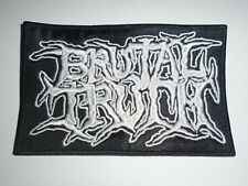 BRUTAL TRUTH DEATH METAL EMBROIDERED PATCH