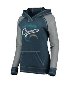 Women's Majestic NFL Los Angeles Chargers Hyper Hoodie Team Apparel Sz Small