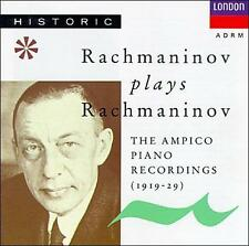 NEW Rachmaninov Plays Rachmaninov--Ampico Recordings (1919-29) (Audio CD)