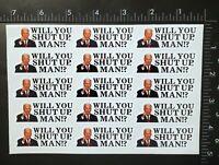 "15 Piece Mini ""Will You Shut Up, Man!?"" Photo Glossy Sticker President Biden"