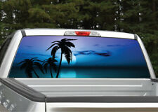 Beach Palm Trees #10 Tropical Sunset Rear Window Decal Graphic for Truck SUV