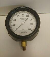 New Old Stock Noshok 4 0 160 Psi 14 Bottom Panel Mount Pressure Gauge