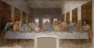 Leonardo da Vinci The Last Supper Poster Reproduction Giclee Canvas Print