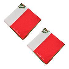 "2 pcs 100% Cotton Paisley Bandanas double sided ""Mexico Flag"" scarf Handkerchief"