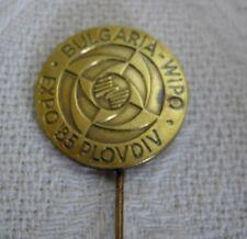 INVENTION WIPO WORLD EXHIBITION of INVENTORS BULGARIA EXPO`85 LOGO PIN BADGE