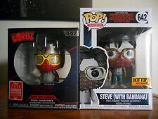 Funko Pop!: Television #642 & Dorbz #467 Steve with Bandana 2-Pack w/protectors!