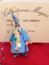 Merlin Disney Grolier Christmas Magic Ornament DCO 153  New In Box