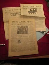 Vintage BYERS JUNIOR NEWS 1943 - Denver CO - 3 ISSUES