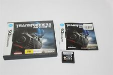 NINTENDO DS TRANSFORMERS AUTOBOTS GAME COMPLETE AUSTRALIAN RELEASE