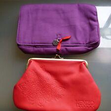 Kenzo Parfums artículos de tocador maquillaje bolsa de lavado X 2 AZUL BNWOT Bundle Lote De Trabajo