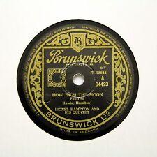 """Lionel HAMPTON & il suo Quintetto """"How High THE MOON"""" (e +) Brunswick 04423 RPM [78]"""