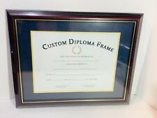 """DIPLOMA FRAME MAHOGANY WITH GOLD TRIM, Fits 8"""" x 10"""""""