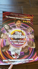 THE NEIGHBORS POSTER AUTO SIGNED BY TOMMY WISEAU JOHNNY ROOM DISASTER ARTIST