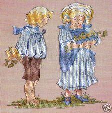 BLUE BABES Cross Stitch Pattern~Children*Boy Sailor*Girl*Victorian?*Marie Barber