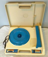 Vintage Fisher Price Blue Portable Phonograph Record Player Kid Turntable *WORKS