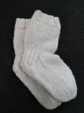 Hand Knitted 100% organic wool NEWBORN long Socks For Blood Circulation NEW